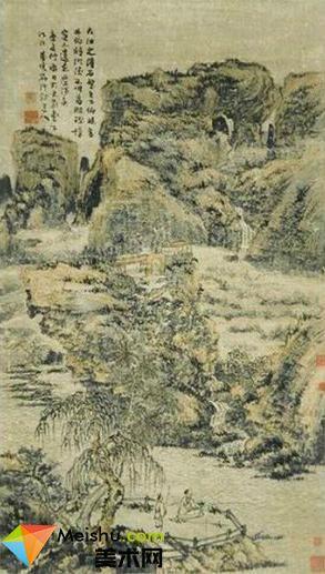 清初四大画僧髡残(刘介邱)作品赏析