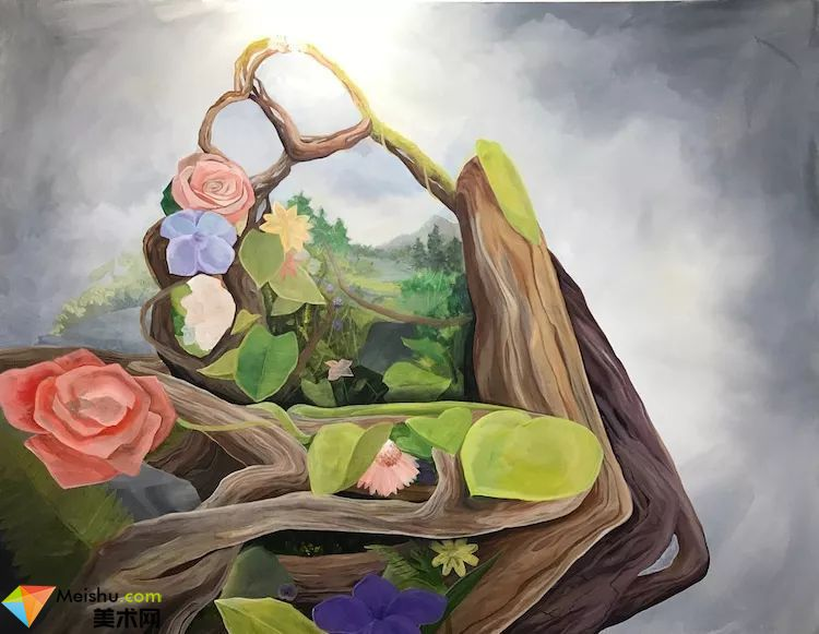 超现实主义国外画家当代达利Brian Kirhagis油画作品大地母亲