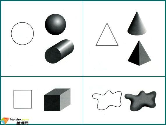 美术的构成元素-第四讲:形状,形态与空间