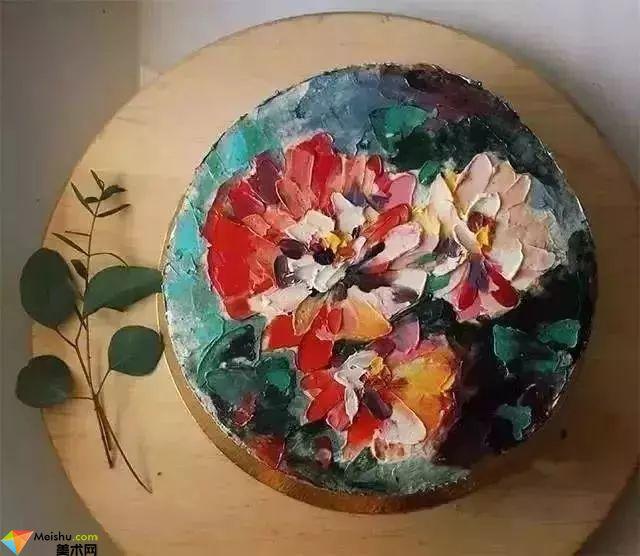 油画技法-还有这样开挂的技能,油画跟蛋糕更配哦!