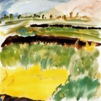 罕见的毕加索水彩作品