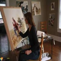 Mary Whyte透明灵动的水彩肖像作品