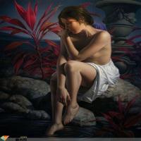 油画混合技法的运用与创新 ,世界人体油画里万千风情的美女赏析!