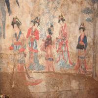 赤峰千年辽墓壁画,为您讲述魏晋才女的爱情故事