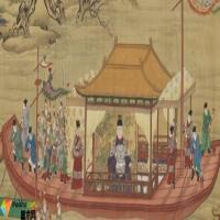 """台北故宫""""古画动漫""""讲述明代皇帝骑马出京、坐船还宫"""