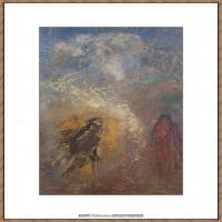 奥迪龙雷东油画作品高清图片Odilon Redon Apparition