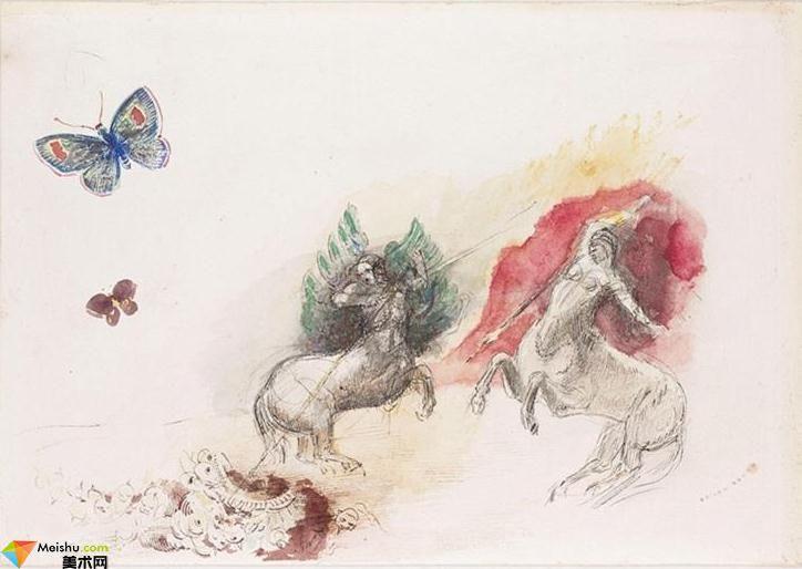 法國(象征主義畫派)奧迪隆·雷東-素描畫展(一)