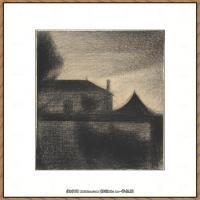 法国新印象主义点彩派画家乔治修拉Georges Seurat油画作品高清大图 (18)