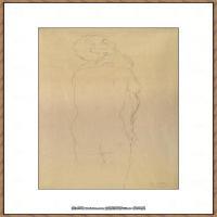 奥地利绘画大师克里姆特Austria Gustav Klimt素描手稿人物素描经典素描高清图片克里姆特速写 (74)