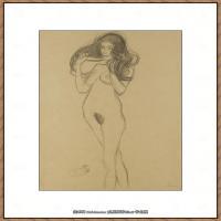 奥地利绘画大师克里姆特Austria Gustav Klimt素描手稿人物素描经典素描高清图片克里姆特速写 (31)