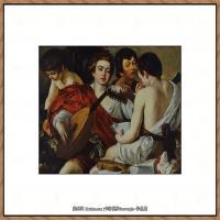 意大利画家卡拉瓦乔Caravaggio油画人物高清图片The Musicians Caravaggio (c