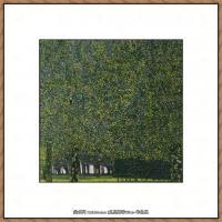 克里姆特Gustav Klimt油画作品奥地利象征主义画家克里姆特油画作品高清图片 (9)