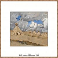 俄罗斯画家伊萨克列维坦Isaac Levitan油画风景作品图片风景油画高清大图 (4)
