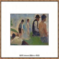 法国新印象主义点彩派画家乔治修拉Georges Seurat油画作品高清大图 (44)