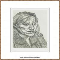 英国表现派绘画大师卢西安弗洛伊德Lucian Freud油画作品高清大图最贵画家卢西安弗洛伊德绘画作品高清图库 (97)