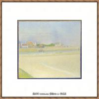 法国新印象主义点彩派画家乔治修拉Georges Seurat油画作品高清大图 (53)