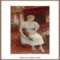 列宾Ilya Repin经典油画作品高清图片人物肖像油画作品图片素材写实派画家油画作品大图 (14)