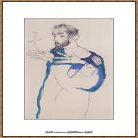 奥地利绘画大师克里姆特Austria Gustav Klimt素描手稿人物素描经典素描高清图片克里姆特速写 (66)