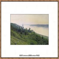 俄罗斯画家伊萨克列维坦Isaac Levitan油画风景作品图片风景油画高清大图 (6)