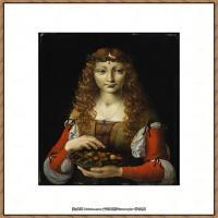 意大利画家卡拉瓦乔Caravaggio油画人物高清图片Girl with Cherries