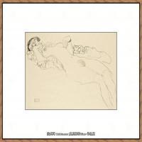 奥地利绘画大师克里姆特Austria Gustav Klimt素描手稿人物素描经典素描高清图片克里姆特速写 (42)