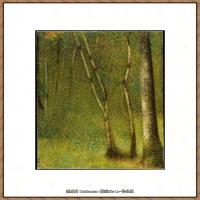 法国新印象主义点彩派画家乔治修拉Georges Seurat油画作品高清大图 (10)