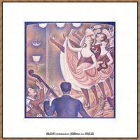 法国新印象主义点彩派画家乔治修拉Georges Seurat油画作品高清大图 (59)