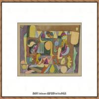 画家保罗克利Paul Klee油画作品高清图片野兽派油画大师作品高清大图 (26)