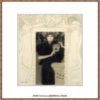 奥地利绘画大师克里姆特Austria Gustav Klimt素描手稿人物素描经典素描高清图片克里姆特速写 (20)