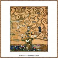 奥地利画家克里姆特Gustav Klimt油画作品高清图片生命之树-