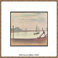 法国新印象主义点彩派画家乔治修拉Georges Seurat油画作品高清大图 (50)
