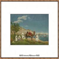 法国画家亨利卢梭Jacques Rousseau油画作品高清图片杰出的油画作品梦 (25)