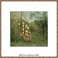 法国画家亨利卢梭Jacques Rousseau油画作品高清图片杰出的油画作品梦 (13)
