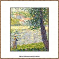 法国新印象主义点彩派画家乔治修拉Georges Seurat油画作品高清大图 (9)