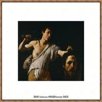 意大利画家卡拉瓦乔Caravaggio油画人物高清图片David with the Head of Goliath