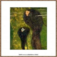 克里姆特Gustav Klimt油画作品奥地利象征主义画家克里姆特油画作品高清图片 (13)