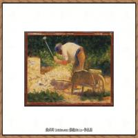 法国新印象主义点彩派画家乔治修拉Georges Seurat油画作品高清大图 (15)
