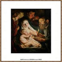 意大利画家卡拉瓦乔Caravaggio油画人物高清图片The Holy Family with Shepherds