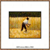 法国新印象主义点彩派画家乔治修拉Georges Seurat油画作品高清大图 (22)