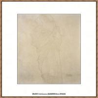 奥地利绘画大师克里姆特Austria Gustav Klimt素描手稿人物素描经典素描高清图片克里姆特速写 (64)