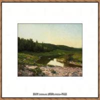 俄罗斯画家伊萨克列维坦Isaac Levitan油画风景作品图片风景油画高清大图 (34)