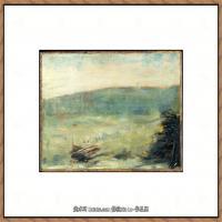 法国新印象主义点彩派画家乔治修拉Georges Seurat油画作品高清大图 (20)