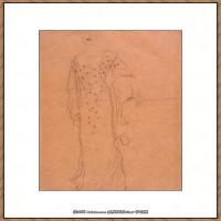 奥地利绘画大师克里姆特Austria Gustav Klimt素描手稿人物素描经典素描高清图片克里姆特速写 (7)