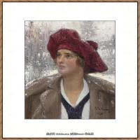 列宾Ilya Repin经典油画作品高清图片人物肖像油画作品图片素材写实派画家油画作品大图 (4)