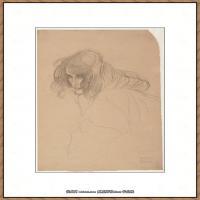 奥地利绘画大师克里姆特Austria Gustav Klimt素描手稿人物素描经典素描高清图片克里姆特速写 (10)