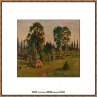 俄罗斯画家伊萨克列维坦Isaac Levitan油画风景作品图片风景油画高清大图 (29)