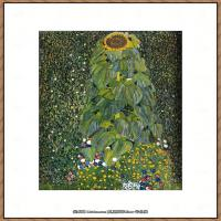 奥地利画家克里姆特Gustav Klimt油画作品高清图片the-sunflower-190