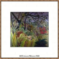 法国画家亨利卢梭Jacques Rousseau油画作品高清图片杰出的油画作品梦 (40)