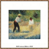 法国新印象主义点彩派画家乔治修拉Georges Seurat油画作品高清大图 (29)