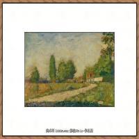 法国新印象主义点彩派画家乔治修拉Georges Seurat油画作品高清大图 (30)